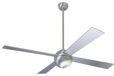 modern fan company brushed aluminum 52 quot ceiling fan