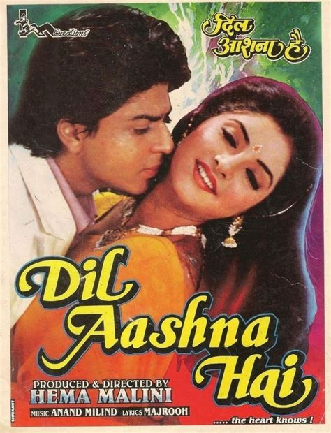 film india terbaru shahrukh khan full movie dil aashna hai 1992 shahrukh khan hindi movie posters
