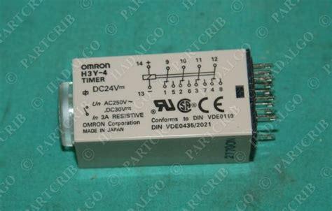 Timer H3y 4 C 10 Sec Dc 24v Omron Original Omron H3y 4 Timer 5sec Relay 5s 24v 24 Volt Dc 24vdc 5