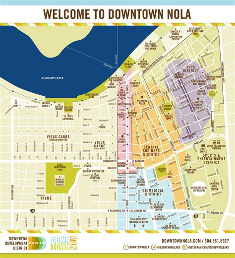 map of new orleans downtown map downtown new orleans