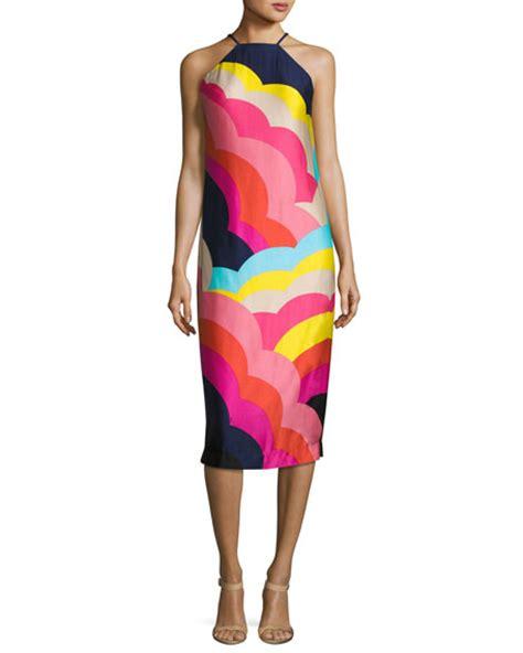 Vina Dress 2 by Vina 2 Sleeveless Abstract Satin Midi Dress