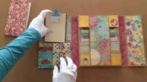 How To Make Folder With Handmade Paper - my handmade vintage mini file folder album journaling book