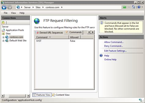 Ftp Request Limits The Official Microsoft Iis Site
