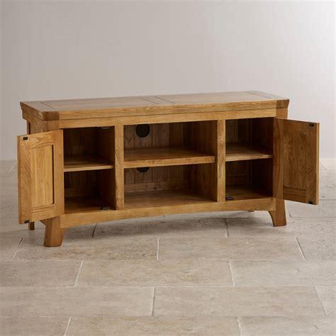 orrick rustic oak tv cabinet orrick wide tv cabinet in rustic solid oak oak furniture