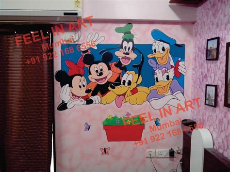 Mickey Mouse Wall Murals playschool wall murals mickey mouse wall murals mumbai