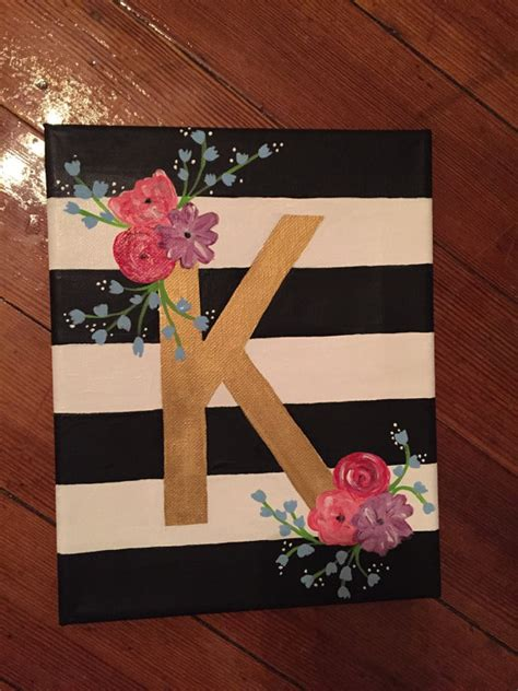 canvas crafts diy items similar to floral letter canvas on etsy