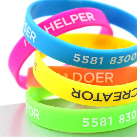 Silicone Wristbands, Rubber Bracelets, Slapbands   AAC ID Solutions