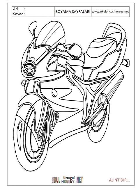motor resmi boyama sayfasy modelleri erkek karton maske