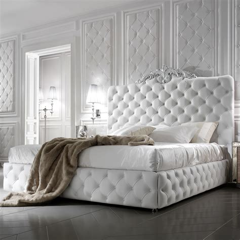 exclusive luxury italian white leather bed juliettes interiors