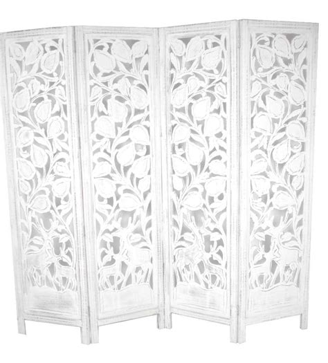 White Room Divider Screen Carved Indian Stag Design Room Divider Screen White Room Dividers Uk
