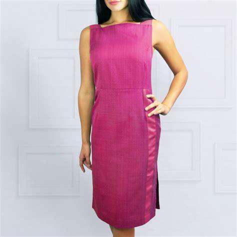 Gamis Fuchia greta dress fuchsia pink by lagom notonthehighstreet