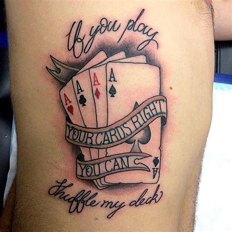 playing card tattoos pics photos amazing card designs card