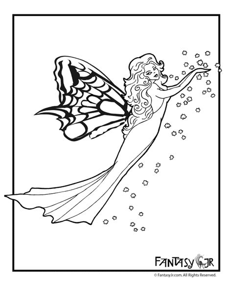 butterfly fairy coloring page 3 woo jr kids activities