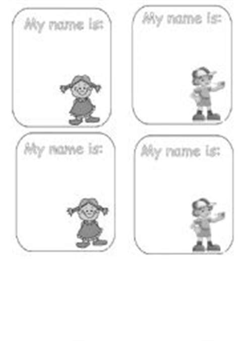 esl printable name tags english worksheets name tag black white