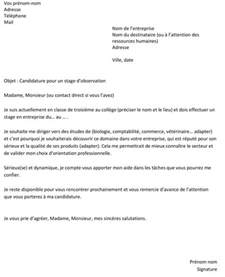 Lettre De Motivation Anglais Stage à L étranger Lettre De Motivation Pour Un Stage De Troisi 232 Me Un Exemple Gratuit Capital Fr