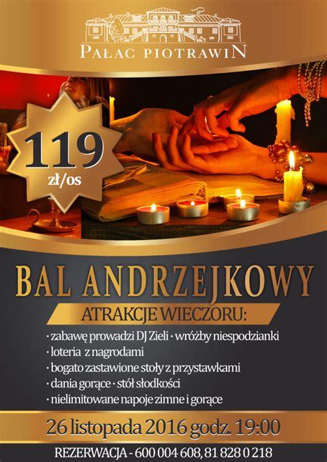Plakat Andrzejkowy by Bal Andrzejkowy Pałac Piotrawinpałac Piotrawin