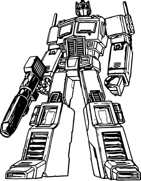 transformer optimus prime coloring pages more