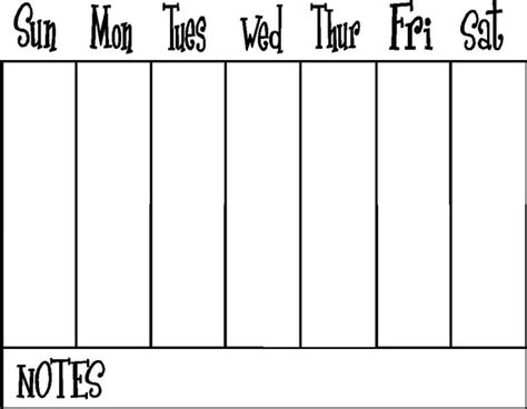 vinyl calendar template weekly calendar vinyl decal for erase board or frame 16 x