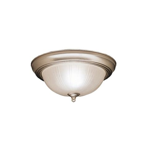kichler lighting warranty kichler 8653ni brushed nickel 2 light flush mount indoor