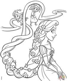 in coloring pages rapunzel and four coloring page free printable