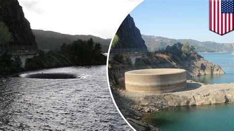 lake berryessa spillway tomonews california lake rises to the rim of its glory