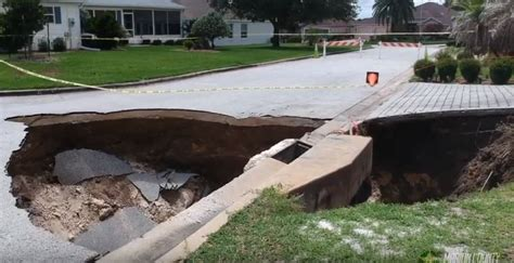 Where Are The Sink Holes In Florida by 4 New Sinkholes Open Up At The Villages In Florida In