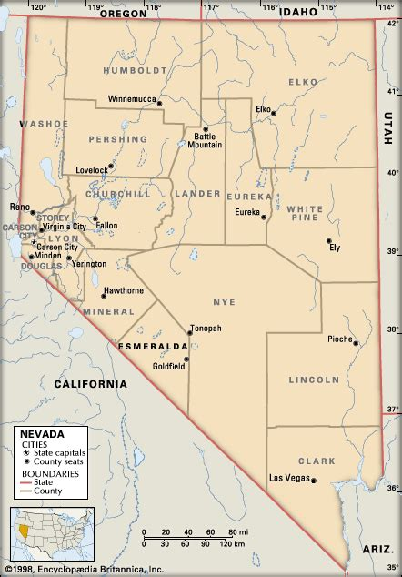 nevada county map nevada counties encyclopedia children s homework help dictionary