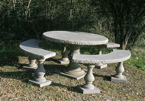 tavoli da giardino in pietra arredamento giardino tavolo 834 toscana marmi