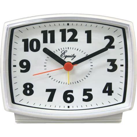 equity lacrosse white electric quartz alarm clock ac powered ebay