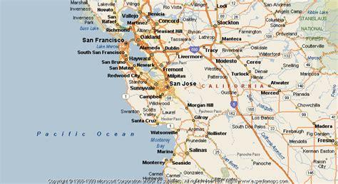 san jose san francisco map map of san jose