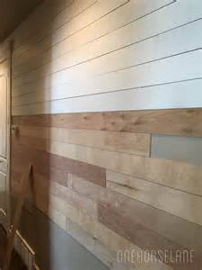 inexpensive wall diy shiplap wall easy cheap and beautiful part 1 one horse lane