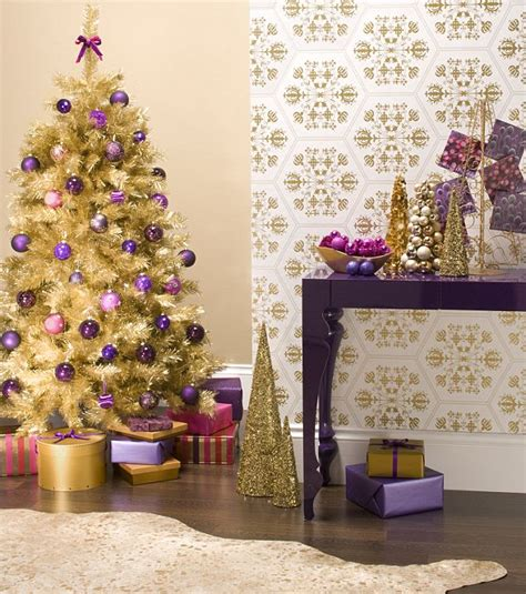 interiors christmas in purple and gold daily mail online