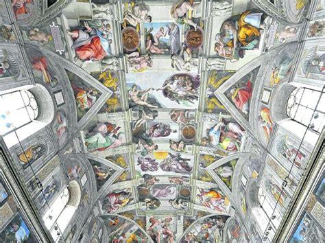sixtinische kapelle decke vor 500 jahren michelangelo pr 228 sentierte fresken in der