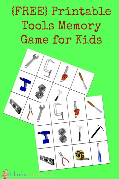printable games for kids robot memory game free printable tools memory game for kids