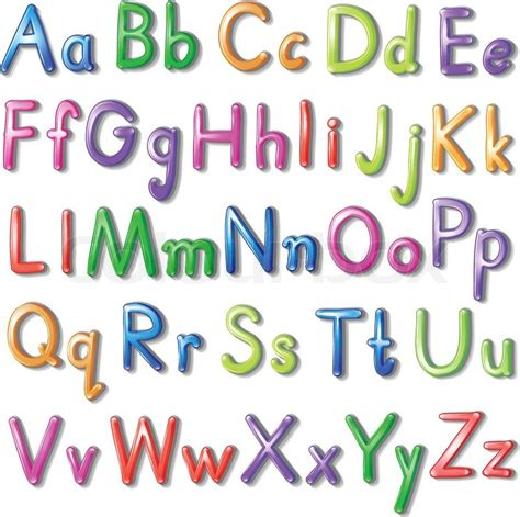 colorful fonts letters of the alphabet in a colourful font style on a