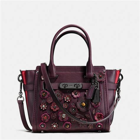 Tas Coach Original Coach Swagger 21 Gunmetal 1 coach willow floral swagger 21 in glovetanned leather in gunmetal oxblood modesens
