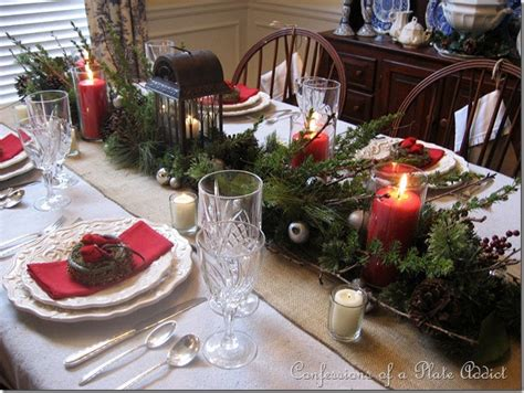 dining table for 8 rustic decorated christmas trees confessions of a plate addict my rustic christmas