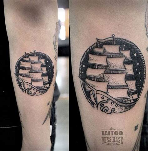 small nautical tattoos 50 amazing ship tattoos you won t believe are real