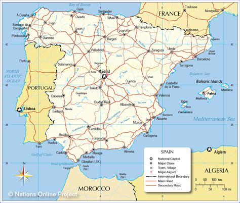 espana map political map of spain nations project
