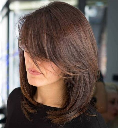 Hairstyles For Medium Layered Hair With Side Bangs by 30 Side Swept Bangs To Sweep You Your
