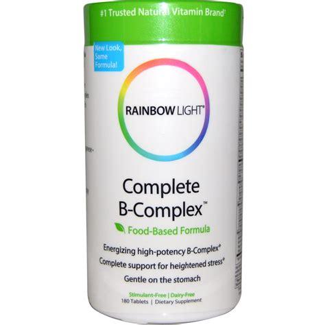 rainbow light b complex rainbow light complete b complex food based formula 180