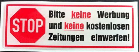 Aufkleber Keine Werbung Keine Kostenlosen Zeitungen by 3d Sticker Alu No Reklame Post Keine Kostenlose Werbung