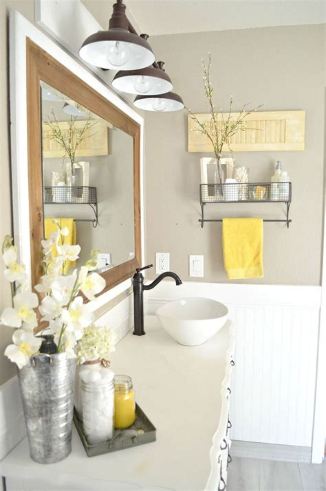 bathroom accessories decorating ideas best 25 yellow bathroom decor ideas on 84