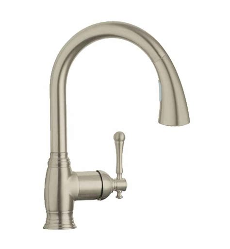 grohe bridgeford kitchen faucet grohe 33870en1 bridgeford dual spray pull kitchen