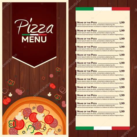 layout di un menu men 249 ristorante caf 233 menu pizza italiana design piatto