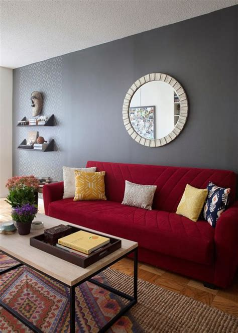 red living room walls how to match a room s colors with bold fabric grey walls