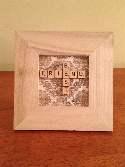 friends with scrabble crafted framed best friend miniature scrabble tiles