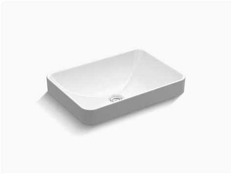 K 5373 Vox Rectangle Vessel Bathroom Sink Kohler Kohler Vox Cutout Template
