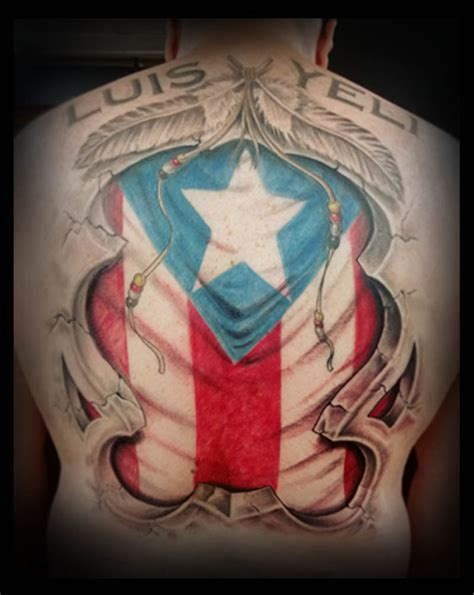 puerto rican flag tattoos designs flag designs