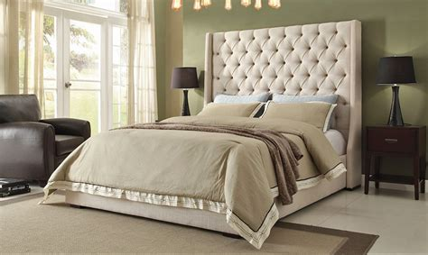 tall beds tall upholstered bed homesfeed
